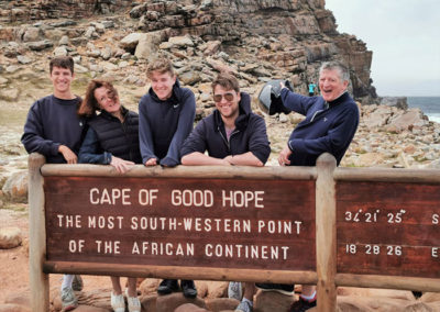 Guests at the most south western point of Africa